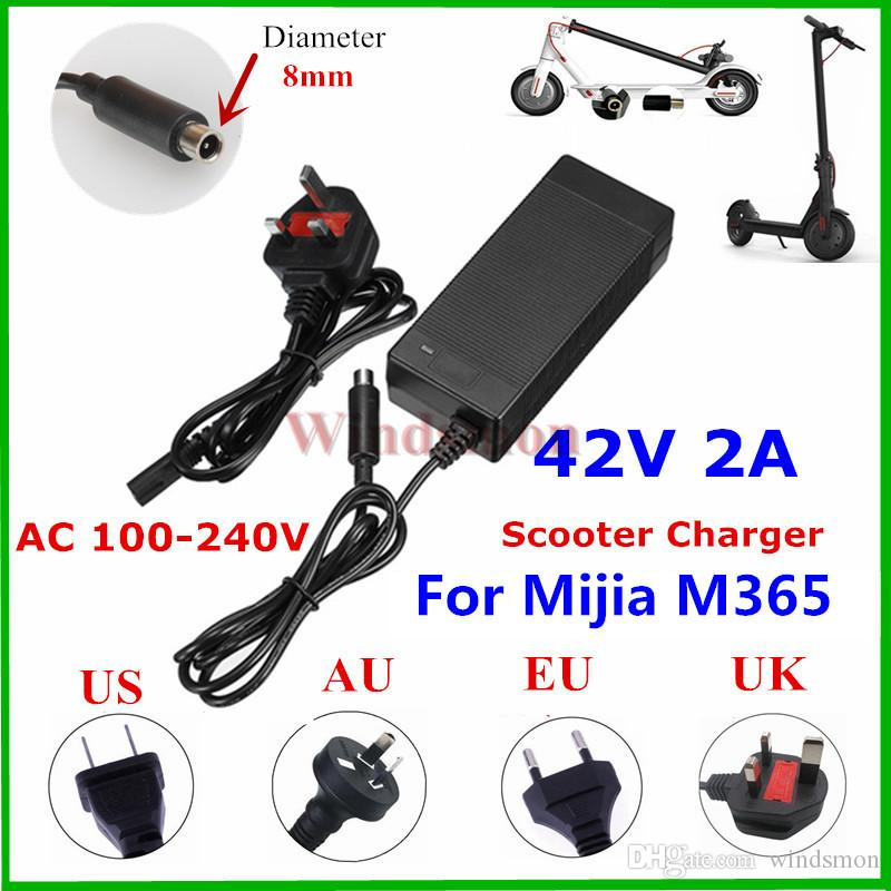 Electric Scooter Charger Adapter 42V 2A for Mijia M365 Ninebot ES1 ES2 ES4 Electric Skateboard Accessories US/UK/AU/EU plug Cheapest