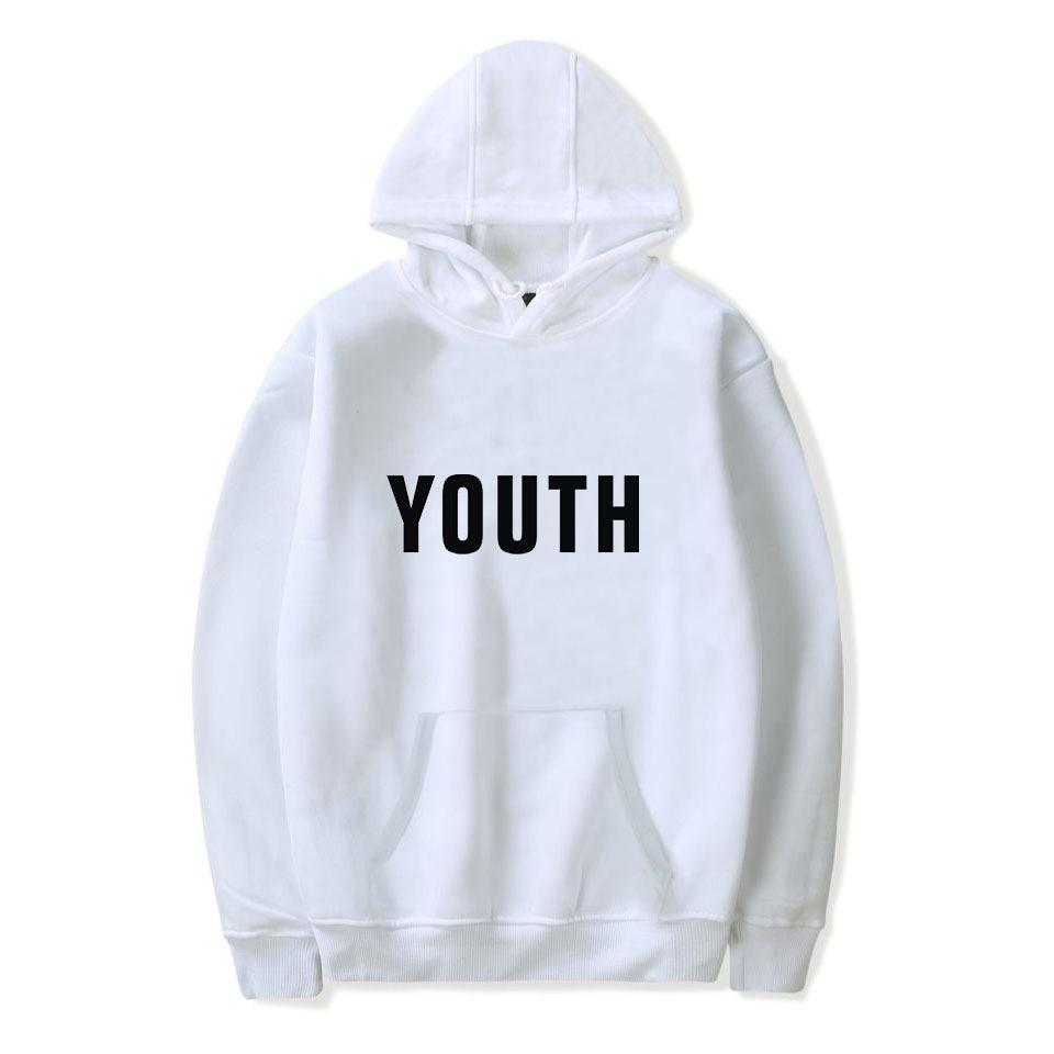 Fashion-Men's Sweater 2019 New Arrival Printed Loose Hooded Letters Mens Sweaters Fashion Letter Popular Hooded Plus Size 2XS-4XL 11 Colors