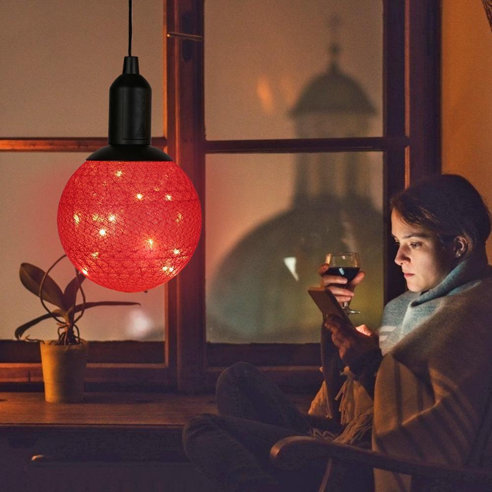 Fábrica Nordic luminária Fada Cotton LED Bola luzes do jardim café decoração do quarto decoração do Natal Luz