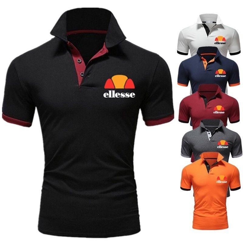 Лето новый рубашка-поло мода случайные письма напечатаны рубашки поло большого размера с короткими рукавами мужские рубашки поло 6 цвет S-2XL