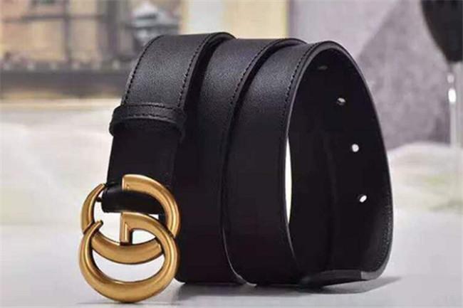 ceintures pour enfants et femmes des hommes de haute qualité des spécifications: 3.8 Longueur ceinture d'or boucle 95-125cm corps noir