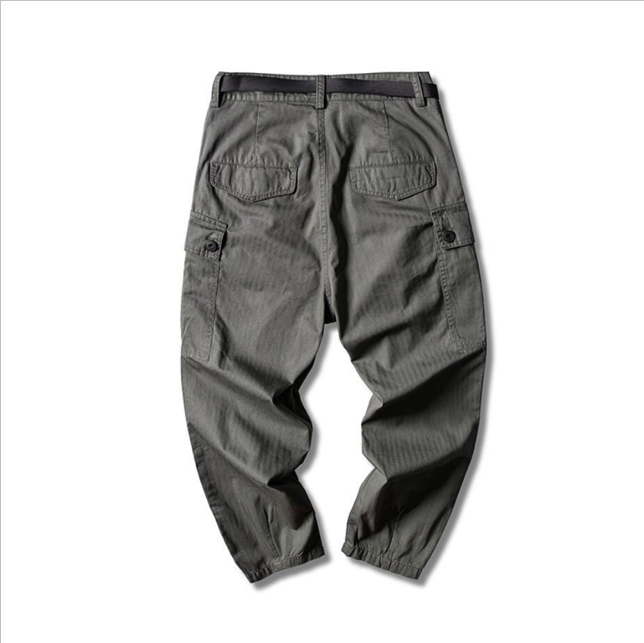 Hommes 2020 Nouveau style décontracté Hip Hop de joggeurs hommes Harajuku en vrac Sarouel Streetwear poches Pantalons Printemps Vintage Homme Cargo