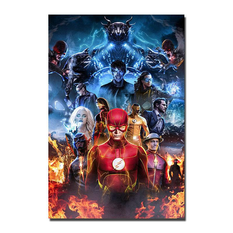 Verrassend The Flash TV Series Superhero Art Silk Poster 24x36inch 24x43inch SD-92