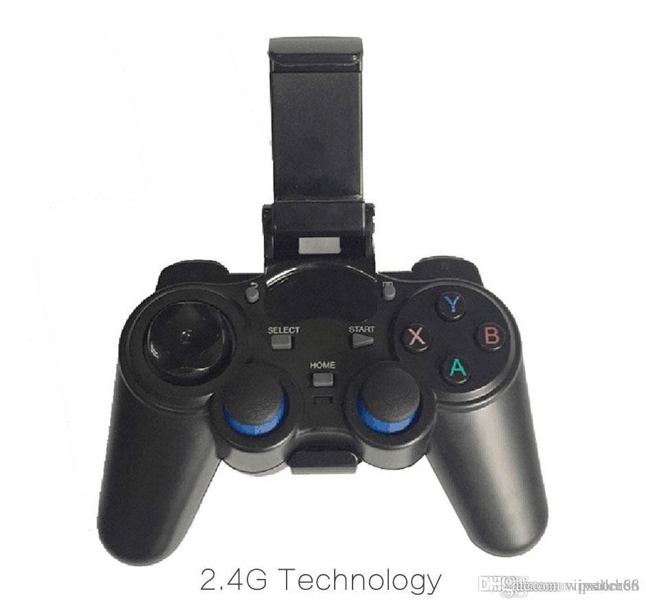 1pcs 2.4G Wireless Game Controller Gamepad Joystick mini keyboard remoter for universal TV box and Smartphone GR1 w/phone supporter