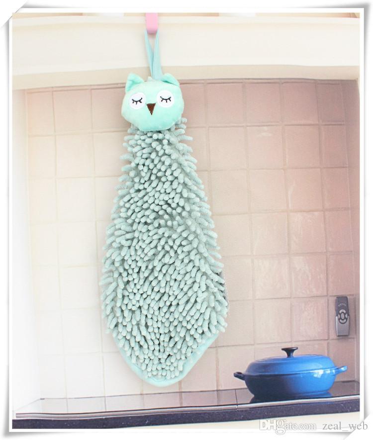 الحيوان منشفة اليد لطيف الكرتون منديل الشنيل ستوكات غسل منشفة يمكن تعليقه المطبخ تستخدم تجفيف يديك بسرعة