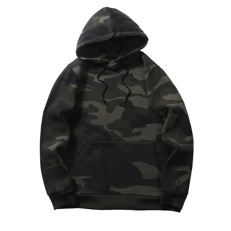 2020 Autumn New Men's Hooded Jacket Three Color Fashion Camouflage Hoodies Casual Personality Loose Short Sportswear