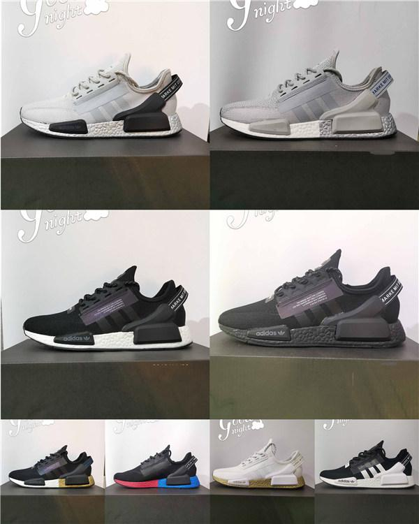 2020 Nmd R1 V2 Des Chaussures Core Black White Mens Running Shoes Og Bred Metallic Gold Triple Men Women Sports Sneakers Size 36 45 From Smallstudio 47 72 Dhgate Com