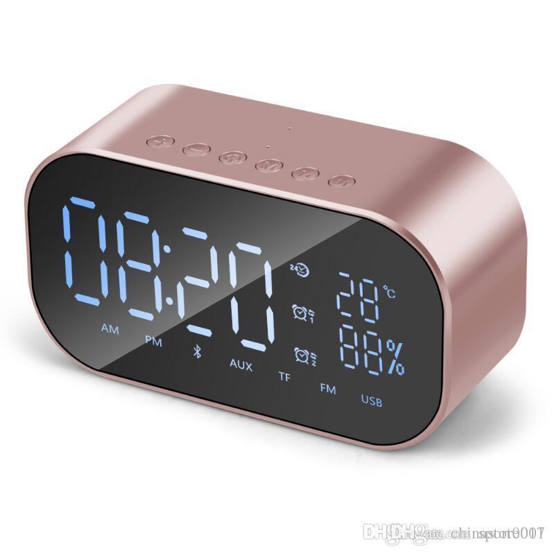 온도 LCD 디스플레이 화면 알람 시계 무선베이스 고음질 MP3 플레이어 파티 스피커 큰 소리와 S2 블루투스 스피커 FM 라디오