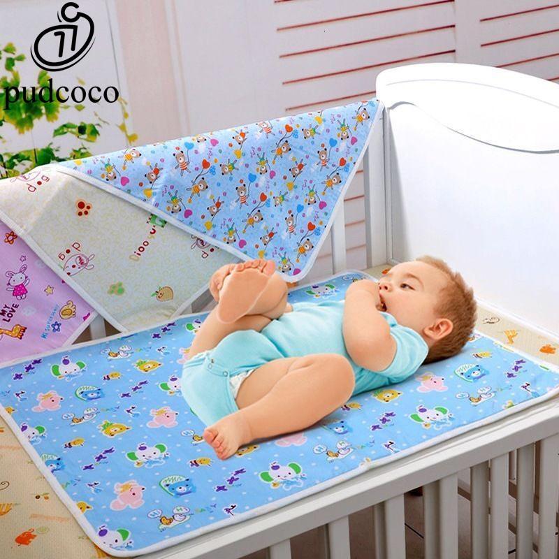 아기 패드 매트를 변경 방수 시트를 시트 신생아 임의의 패턴에 대한 재사용 아기 기저귀 매트리스 기저귀를 뚜껑 변경