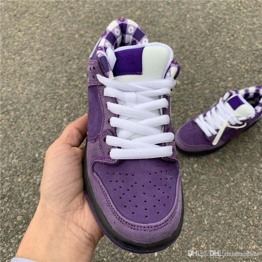 Concepts x Chaussures de skateboard SB Dunk Low Pro QS Purple Lobster CNPTS Diamond Su 2019 Créateur de mode Chaussures de sport tout-aller