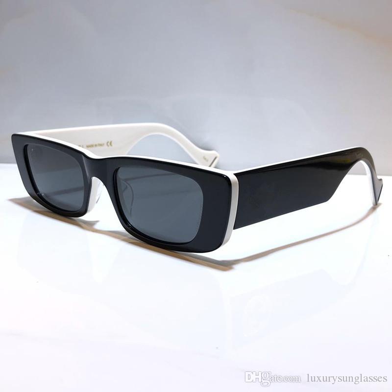 Lunettes de soleil nouvelles 0516 pour les femmes des hommes de protection spéciale UV femmes Designer Vintage petite monture carrée de qualité supérieure libre avec Come cas 0516S