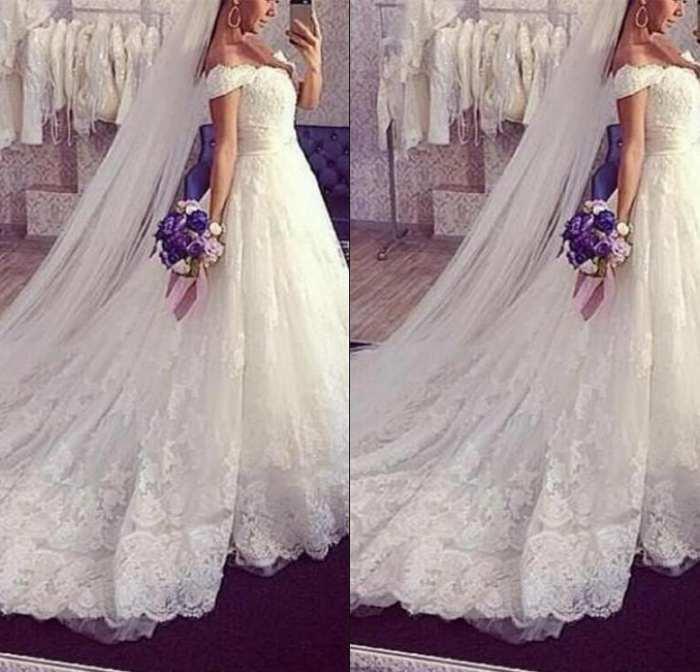 Luxuriöser Schatz Kurz Kappen-Hülse A-line Brautkleider Appliques Korn-Schärpe Tulle Bridal Brautkleider Robe De Mariee
