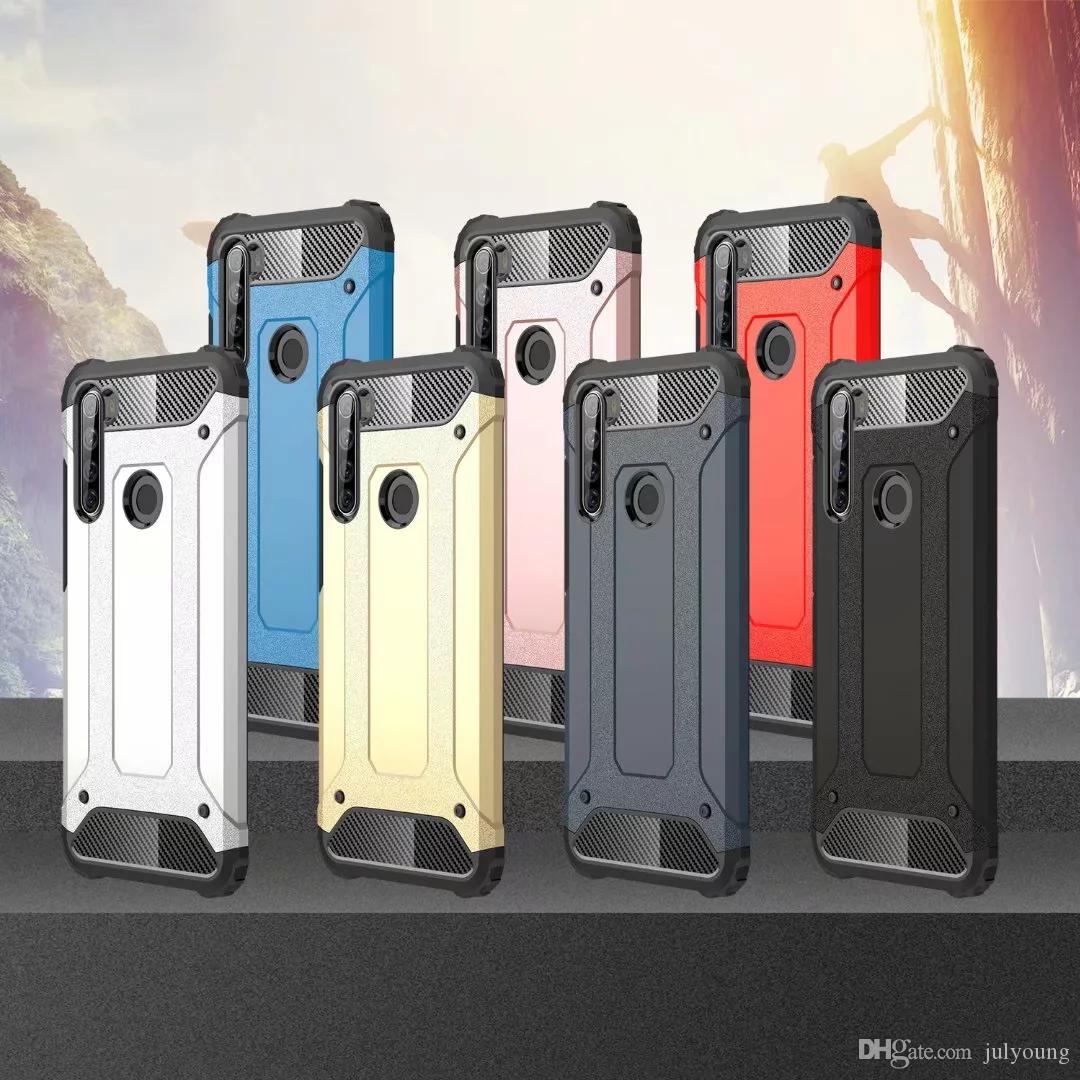 Stoßfeste Ironman Rüstung Hybrid harter PC + weicher TPU Fall für Huawei Mate-30 Pro Nova 5 5i Pro Ehre 9X 20 Combo Dual-Durable Ironman-Abdeckung
