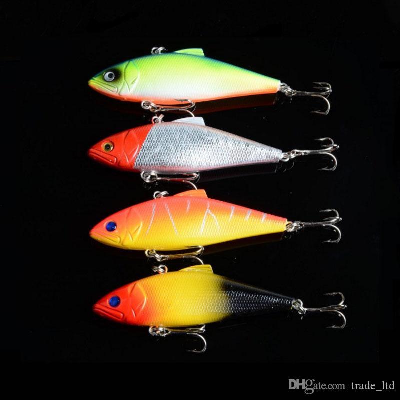 Hot 4 Color 8 5 cm 11 2g Vibration Lure Bait Vibration Fishing Gear Bionic Bait Lures señuelo Pesca de ojos 3D señuelo de la pesca alta calidad