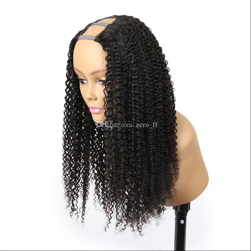 Kinky Curly U Part Wig Hair 100% Unprocessed Peruvian Hair U part Wigs Kinky Curly U-Part Wig For Black Woman