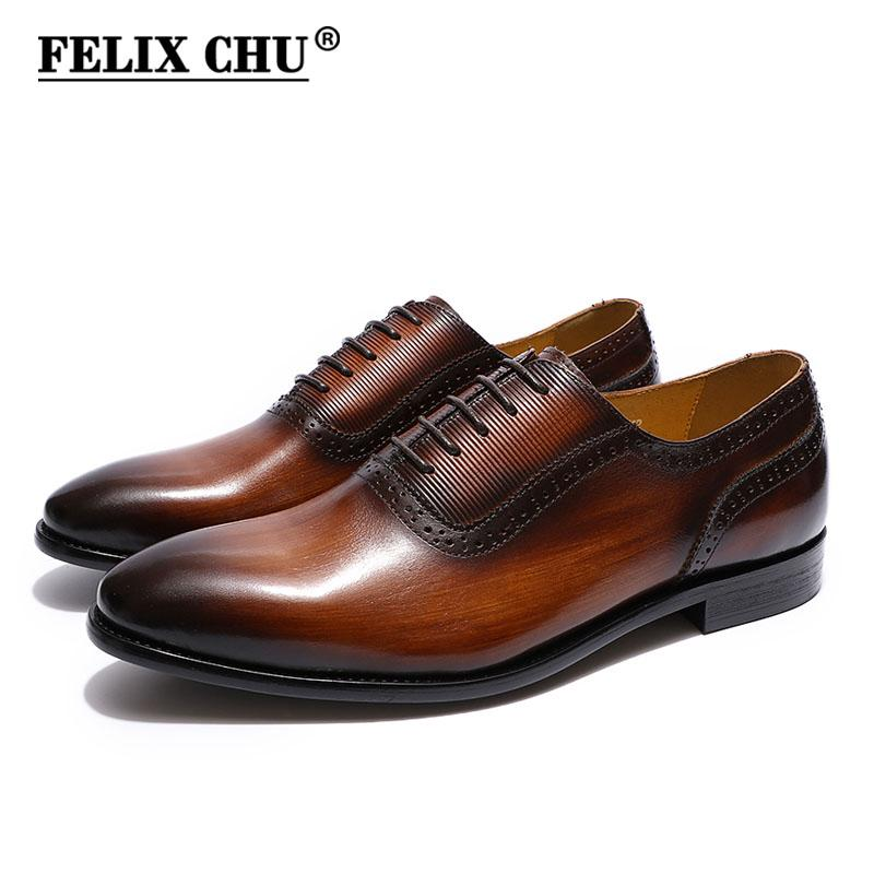 European Style Genuine Leather Formal Derby Shoes Lace Up Pointed Toe Dress Shoes Banquet Business Office Elegant Brogue