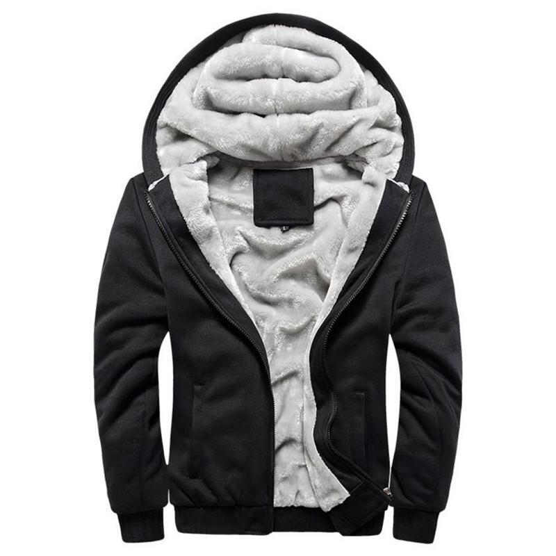 2018 осень зима новых мужчин вскользь Добавить хлопка ватник с капюшоном пальто