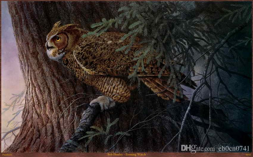 Modern HD Impresso Art Decor Animal Pintura a óleo Imagem Na Lona Para O Escritório Adorno Art ZXTP1 (24)