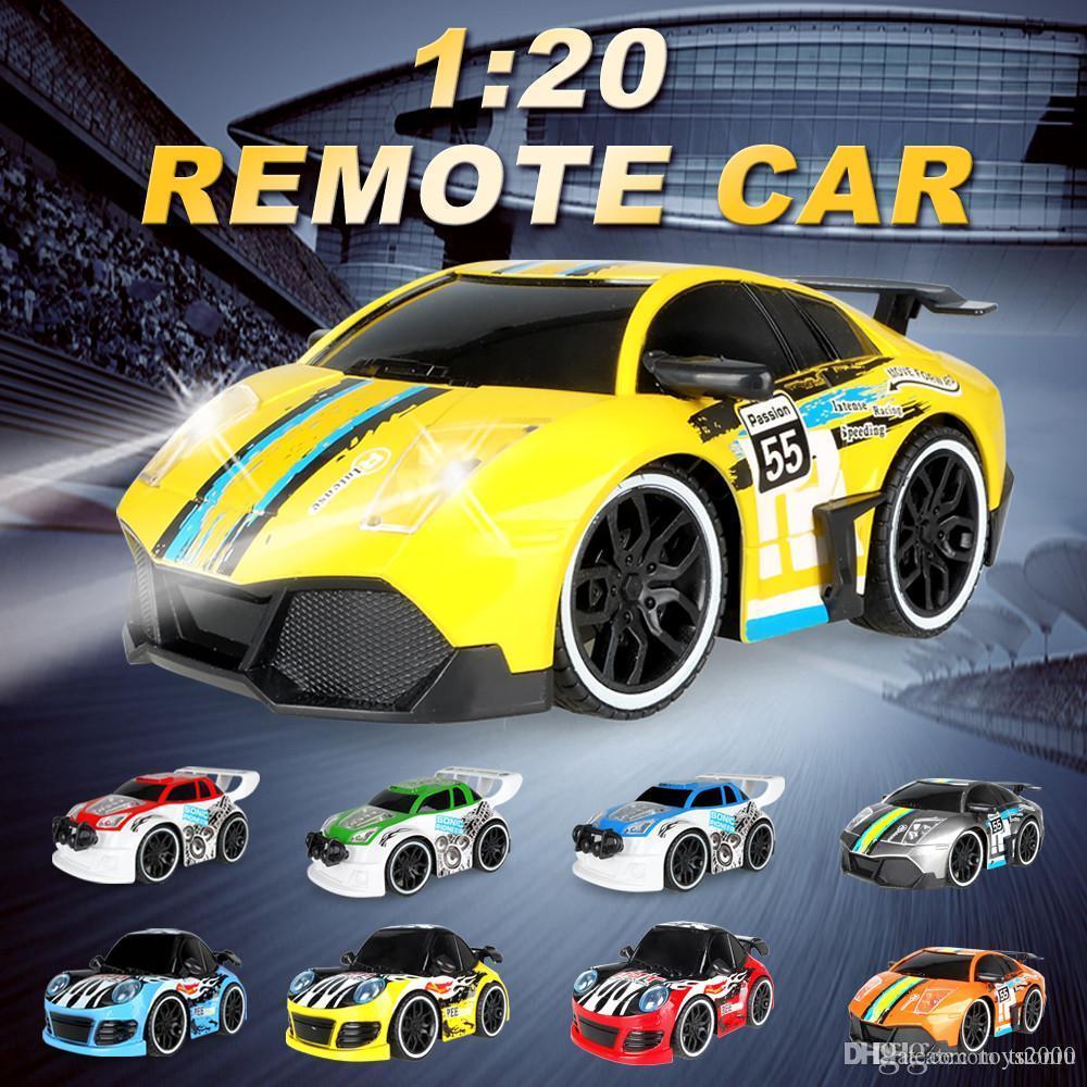 1: 20 سيارة كهربائية التحكم عن بعد rc سيارة صغيرة سيارة باردة وعالية السرعة لعبة مع راديو التحكم عن بعد للأطفال هدية