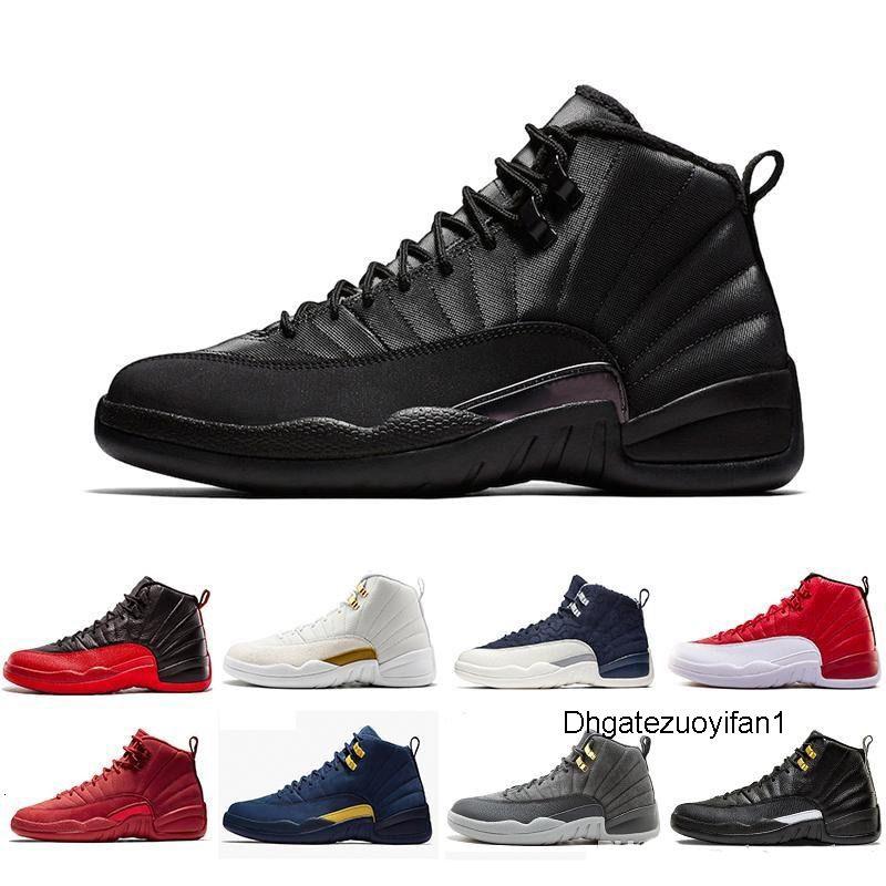 Con la caja de alta calidad 12 zapatos rojos El Maestro de baloncesto 12s OVO blanca Gimnasio Hombres Mujeres taxi Juego de la gripe francesa azul CNY las zapatillas de deporte