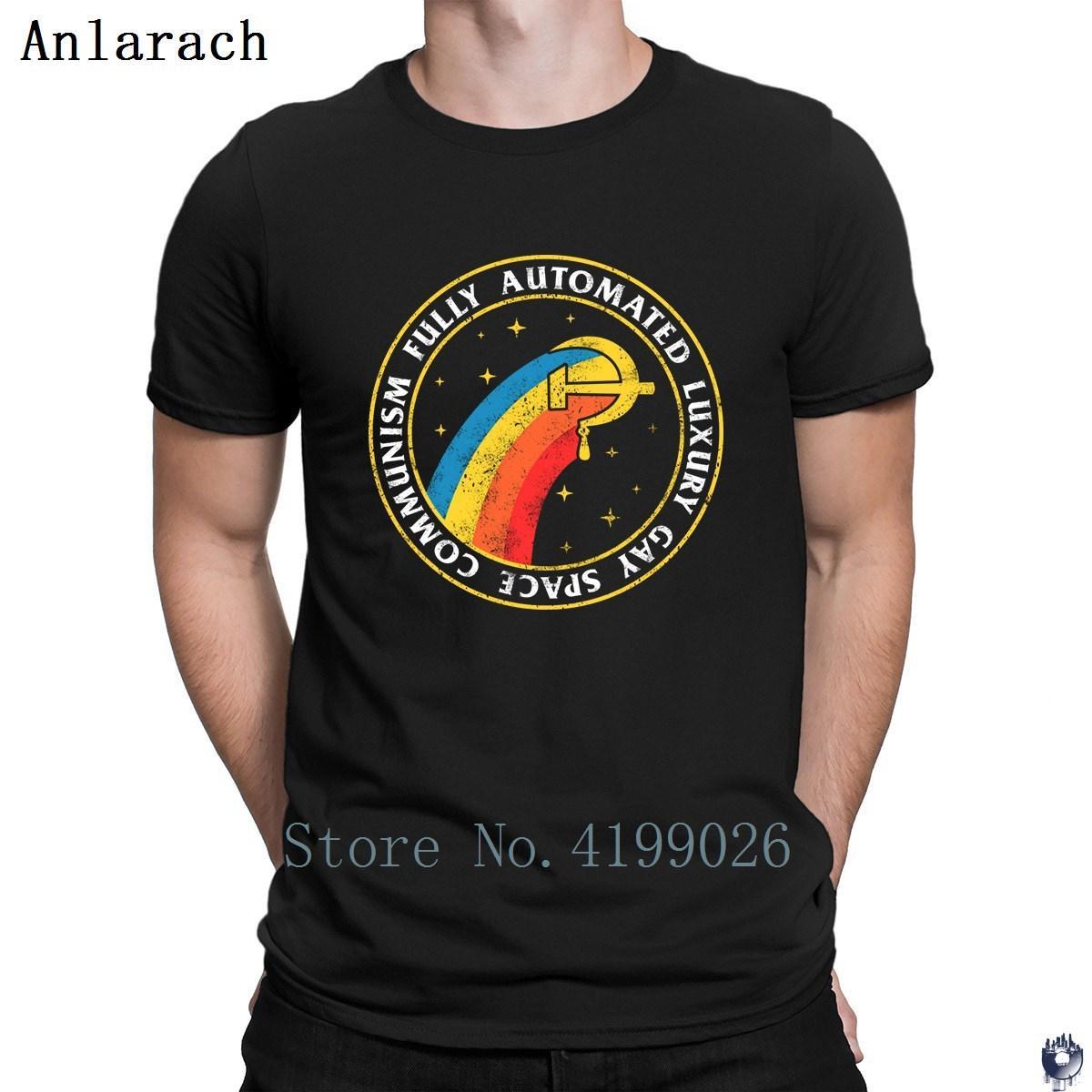Completamente maglietta Gay Spazio comunismo lusso automatizzata creare maglietta streetwear per gli uomini Pop Top Tee calda di vendita CCCP russo T-shirt