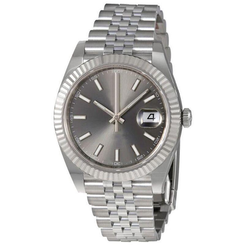 럭셔리 탑 v3 손목 시계 사파이어 유리 시계 솔리드 스테인레스 스틸 걸쇠 빛나는 자동 남자의 손목 시계 날짜 그냥 접는 버클 새로운