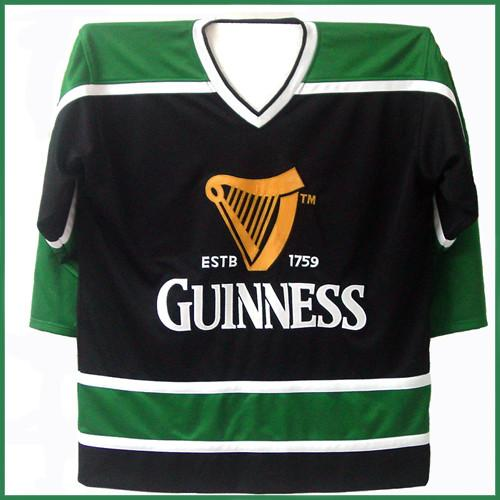 Custom Guinness Beer Authentic St. Patrick's Day Ice Hockey Jersey Black Green #17 March Stitched Any Name Your Number Customized Vintage