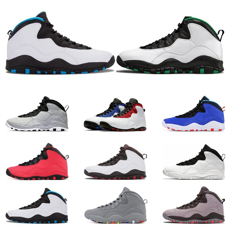 New arrivel sapatos Athletic 10 basquetebol dos homens sapatos 10s Seattle aço Cimento TINKER cinza treinador pó azul I m costas esportes tênis