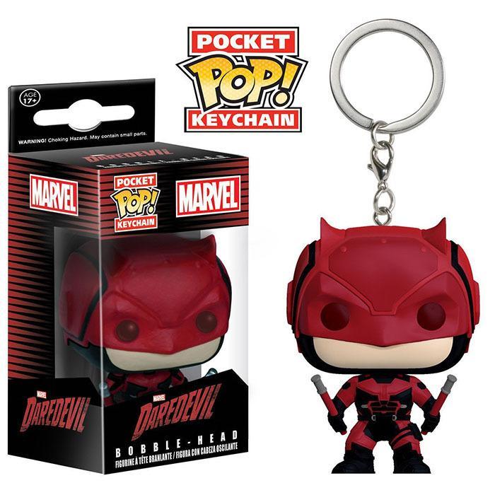 all'ingrosso Keychain Funko Pocket POP - Daredevil Child's Play Vinyl Figure Portachiavi con regalo Toy Box di buona qualità