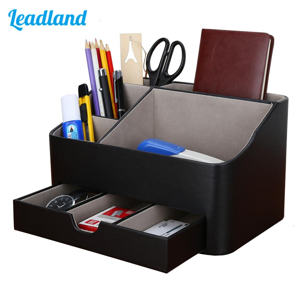 Office Supplies Multi-functional Stationery Storage box Pen holder Pencil Box Large capacity Desk organizer with drawer New SH190926