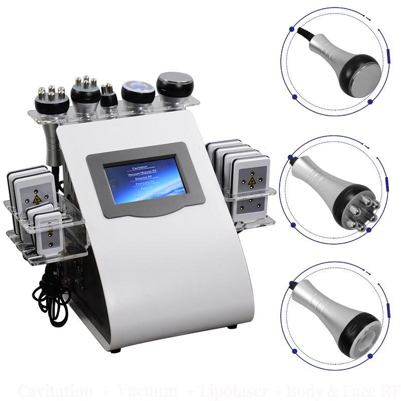 2021 Мощная 40K Ультразвуковая кавитация для похудения Машина 4 ручки Липосакция LLLT Вакуум PAVI CAVI LIPO LIPO LIGHTY Уход за лицом Салон SPA SPA