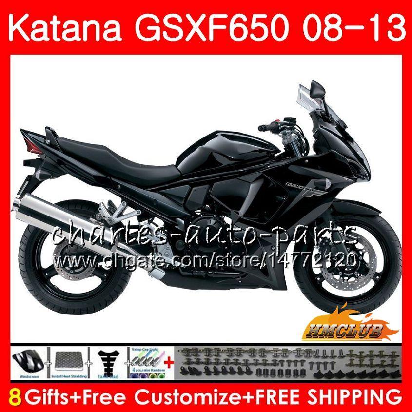 Kit For SUZUKI KATANA flat black GSXF 650 2008 2009 2010 2011 2012 2013 2014 18HC.64 GSXF-650 GSX650F GSXF650 08 09 10 11 12 13 14 Fairing