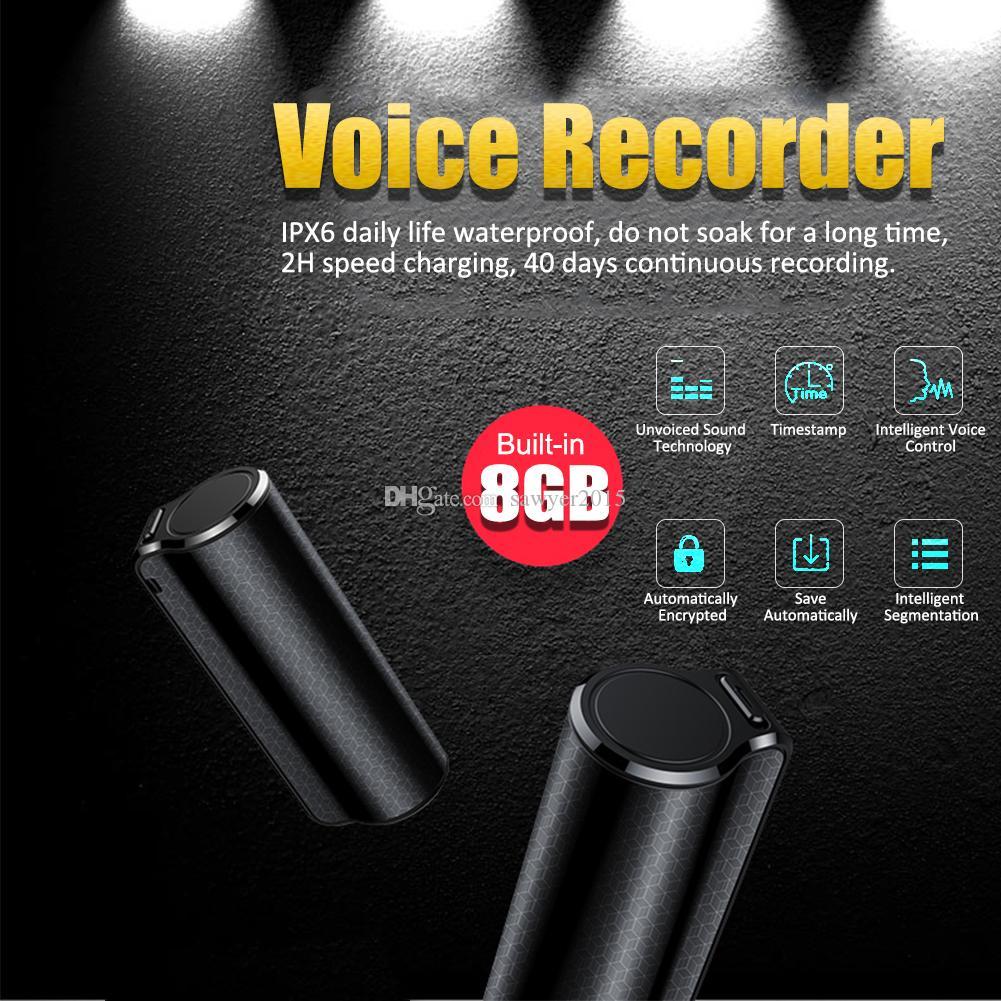 8GB البسيطة الرقمية الصوت مسجل صوت Q70 المحمولة المغناطيسي المهنية للحد من الضوضاء HD الإملاء لمسافات طويلة مسجل الصوت