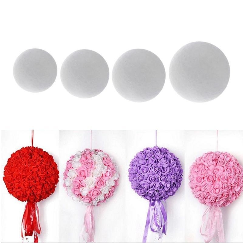 1 قطعة جولة الصلبة البوليستيرين الستايروفوم رغوة الكرة عن عيد الميلاد DIY زهرة الكرة الزفاف كرافت 150/180/200 / 250MM