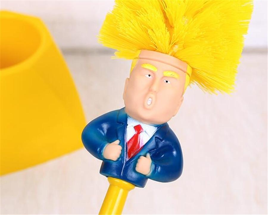 Chrome Round Wall Mounted Toilet Trump Brush And Frosted Glass Toilet Trump Brush Holder#459