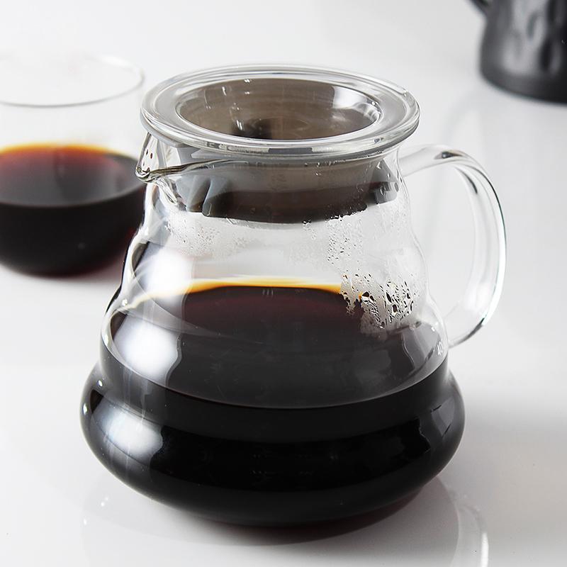 Kaffeekanne, Glaskaffee Dripper, Insulated Griff Sie zu halten gießen Kaffee und Tee heiß und frisch Drip Kessel mit der Creative