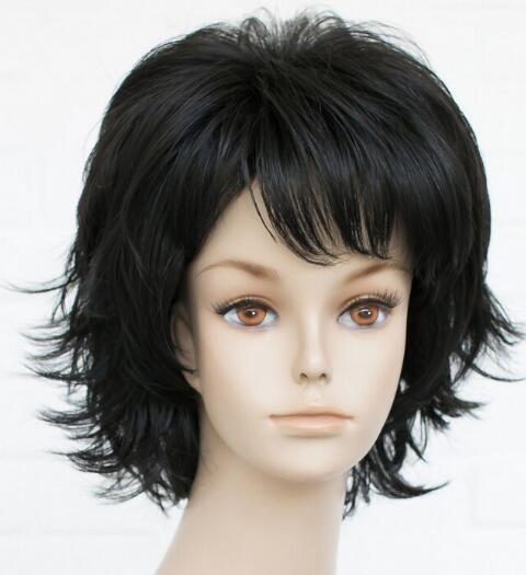 FREE SHIPPING + Hivision Natural black Women ladies Daily Fluffy Wig