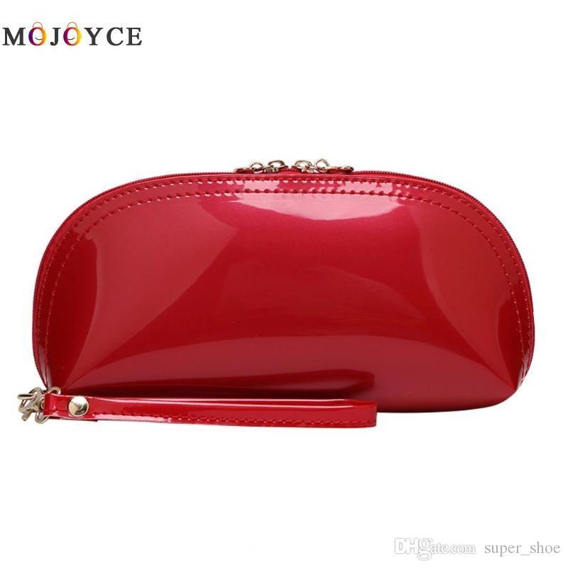 Fashion Women Bling Leather Shell Zipper Wallet Day Clutch Coin Phone Purse Change Handbag carteras y bolsos de mujer #173027
