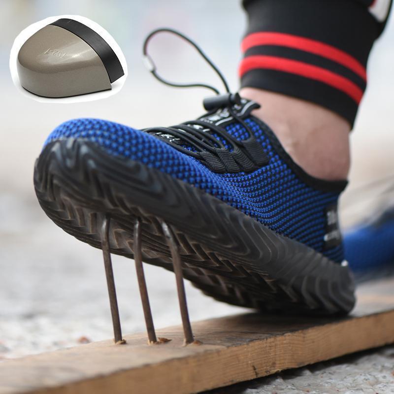 Обувь Мужская безопасности для мужчин Женщины стали Toe работы Обувь дышащий Lightweight Промышленное строительство проколам Кроссовки