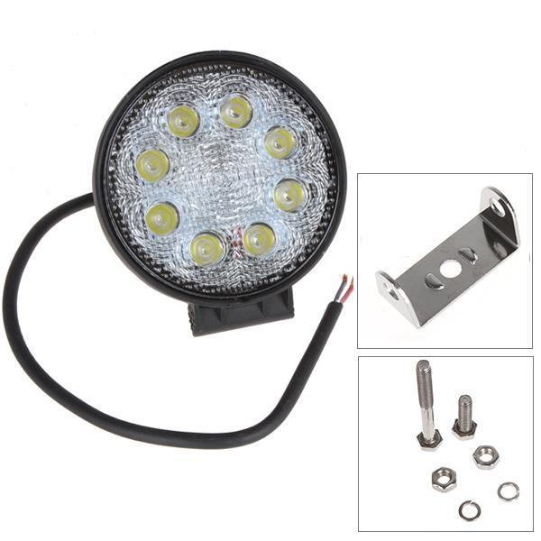 4 Inch 12v /24v 1600lm 24w Waterproof Circular Led Work Light For Motorcycle Tractor Boat 4wd Offroad Suv Atv Cec _423