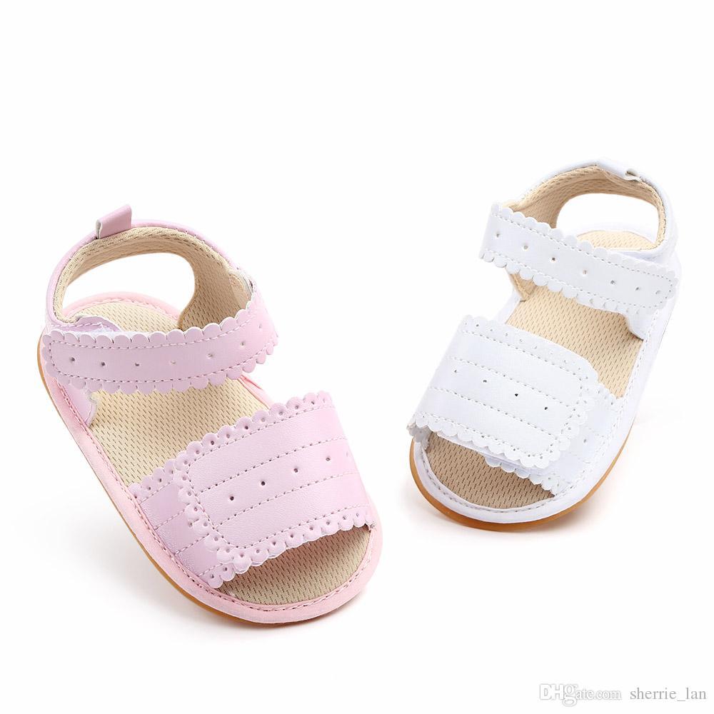 Neonate pattini della principessa Bella Comodo HOOK LOOP sandali piatti romani antisdrucciolevole molle Sole Sneakers infante appena nato scarpe comode