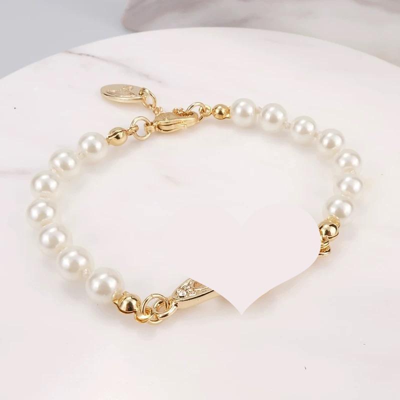 4 cores pérola bracelete frisado Mulheres Rhinestone Obit presente pulseira para Love namorada Moda Jóias e Acessórios