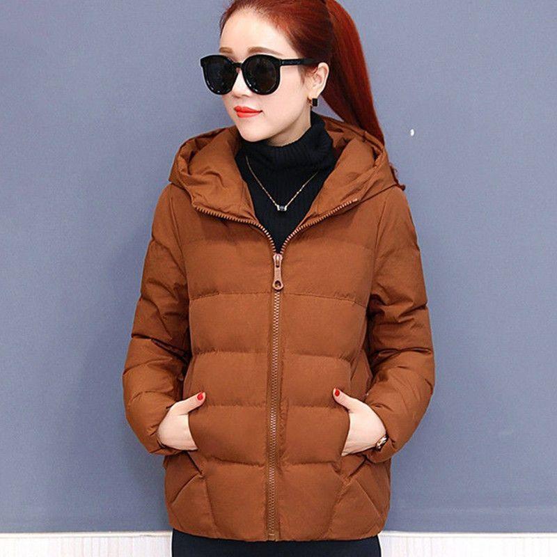 플러스 디자이너 따뜻한 착실히 보내다 사이즈 여성 겨울 자켓면 느슨한 짧은 파카 여성 여성 코트 후드 jaqueta feminina DR1192