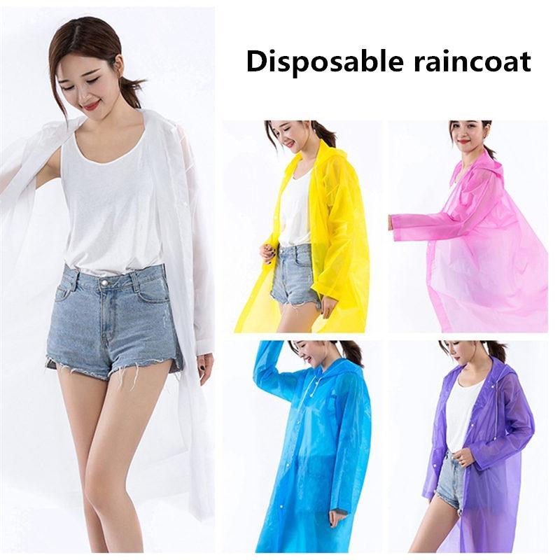Disposable Raincoat adulti emergenza impermeabile Cappuccio Poncho viaggio Camping Must cappotto di pioggia unisex una tantum di emergenza indumenti impermeabili 1000pcs T1I1925