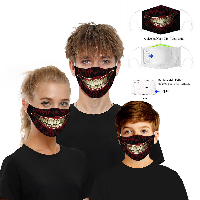 أقنعة الجملة قناع 3D مطبوعة المدنية الرجال النساء يمكن غسل تنفس شاش القطن مكافحة الضباب PM2.5 قناع الوجه 3D أقنعة