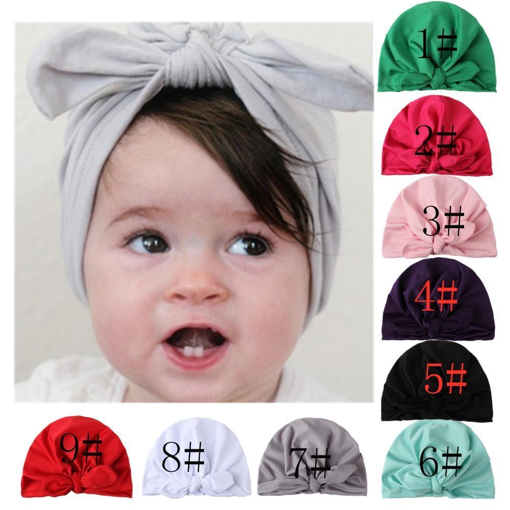 New American Style Childrens Hairwear Melhor Venda infantil do bebê adereços foto Meninas Inverno coelho consideravelmente Ear Hat indiana Turban