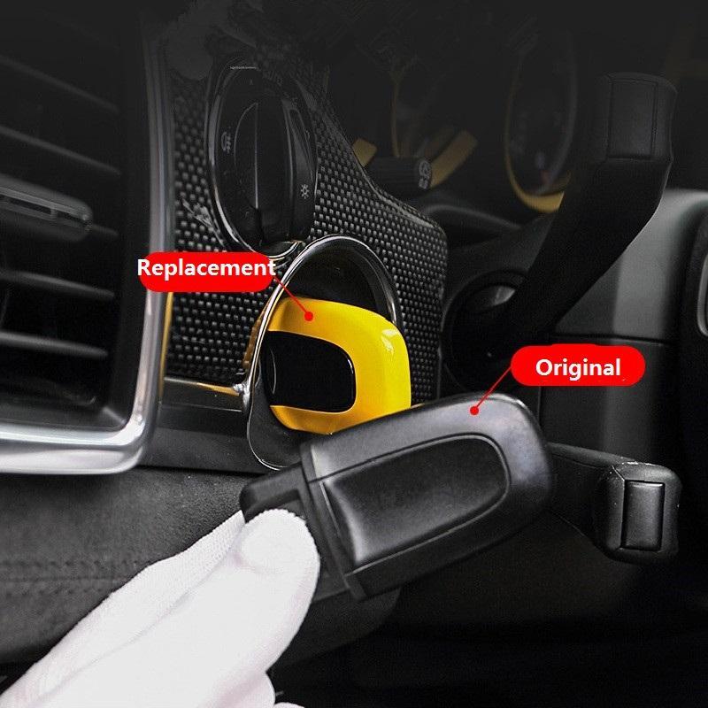 ABS 하나의 버튼 시작 수동 열쇠가없는 자동차 키 커버 케이스 포르쉐 마칸 카이엔 Panamera 스타일링 교체 액세서리