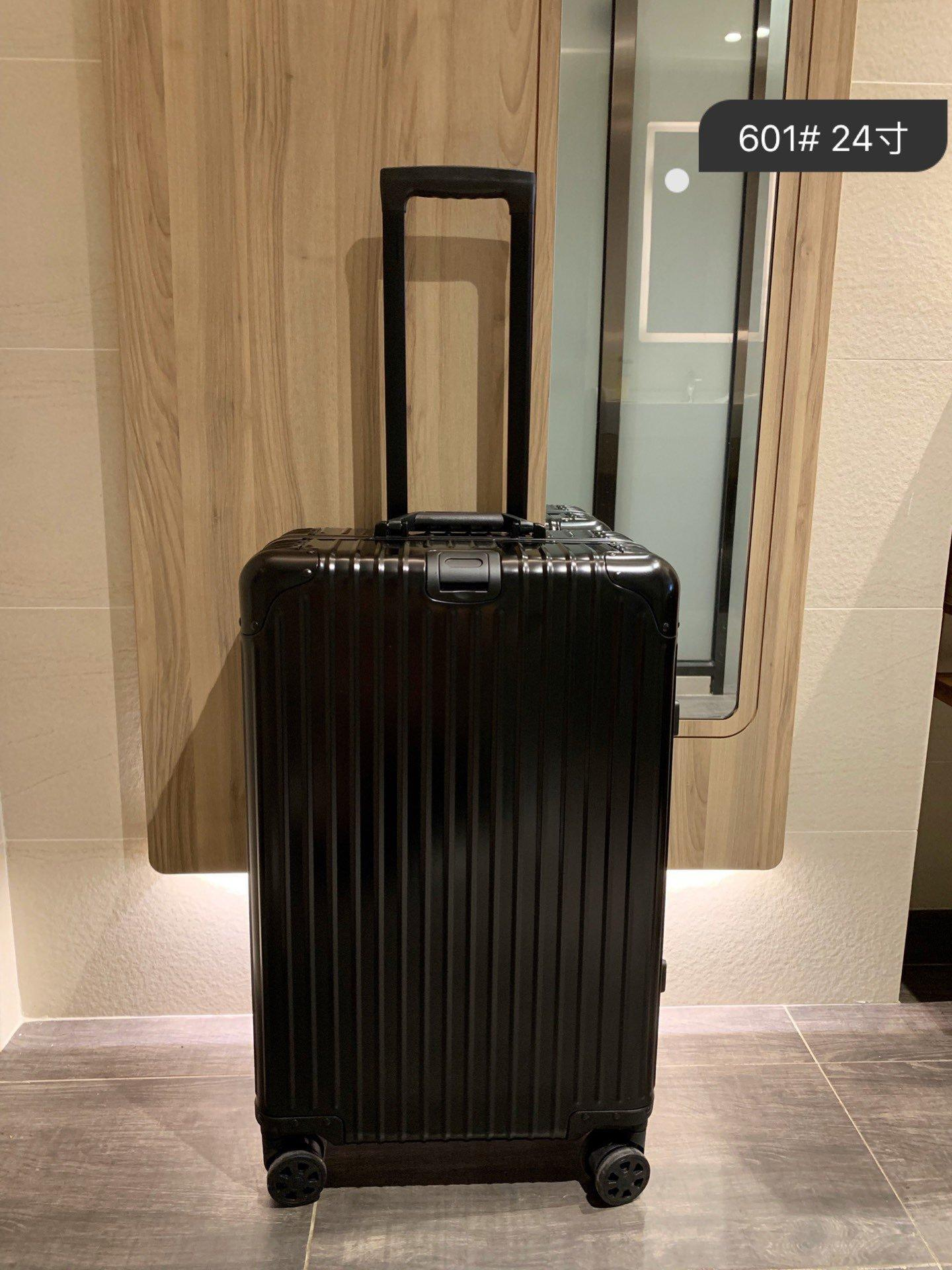 قفل جودة عالية PC مكافحة ارتداء الجمارك TSA المادي سميكة سبائك الألومنيوم حقيبة الزاوية سعة كبيرة حقيبة السفر حالة الهواء 24 بوصة
