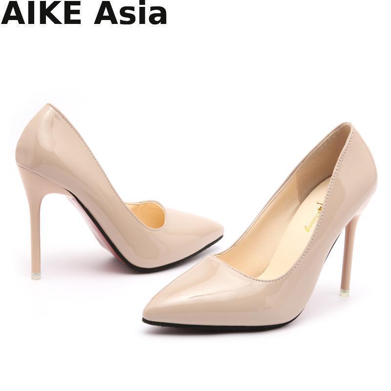 Sıcak Promosyonlar Kadın Pompaları İlkbahar / sonbahar Yüksek Topuklu Sivri Burun Kadın Düğün Ayakkabı Kadınlar Için Seksi Yüksek Topuk Ayakkabı