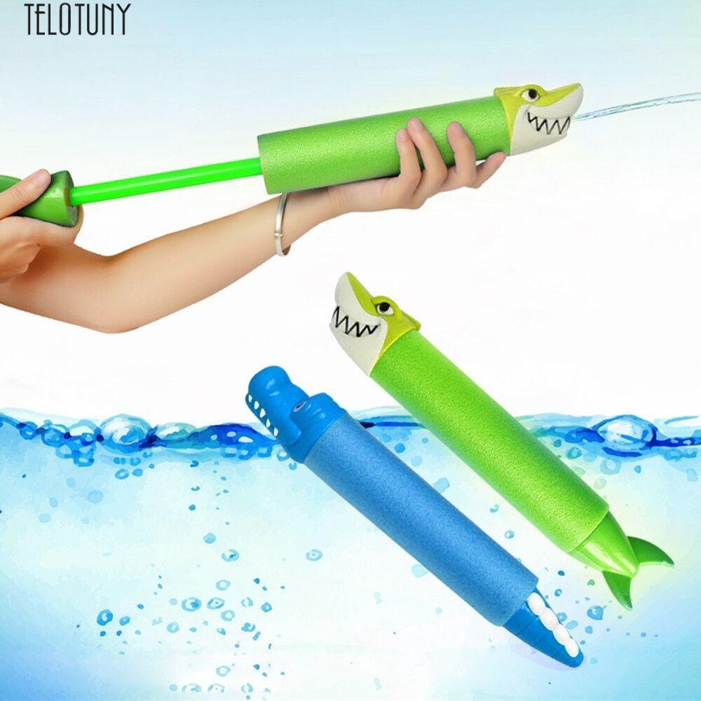 TELOTUNY 2PC baby Funny beach water gun niños blasters Eliminator Super Soaker Foam Pocket Natación Water Summer Beach Toys Z0125